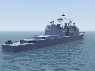 3d model ticonderoga class cg