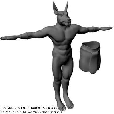 anubis warrior animation 3d ma