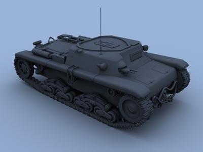 3d model command tank