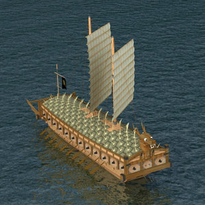 korean kobukson turtle ship 3d model