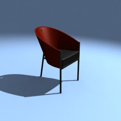 costes chair philippe 3d model