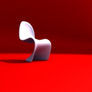 cantilever chair 3d w3d
