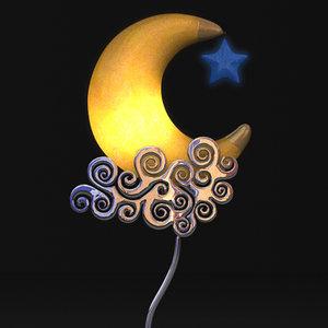 moon lamp lights 3d 3ds