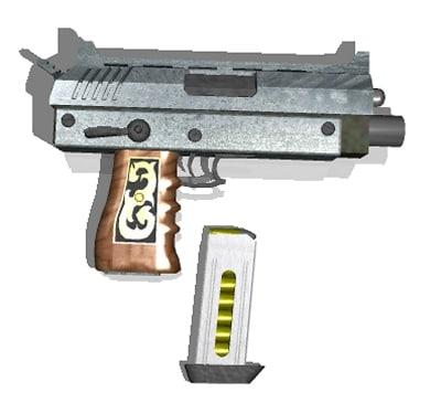 handcannon pistol 3d model