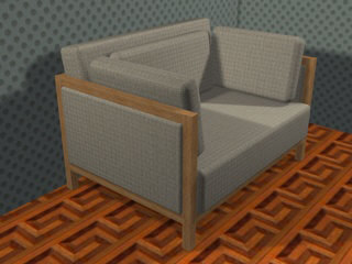 3d chair armchair model
