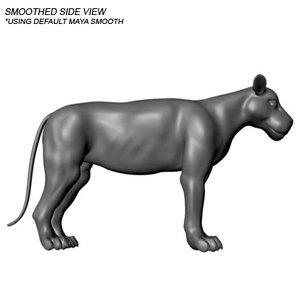 lion animation 3d model