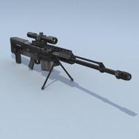 assault sniper rifle 3d model