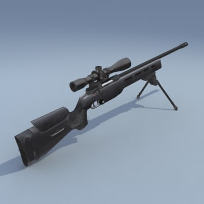 ssg 3000 rifle sniper 3d model
