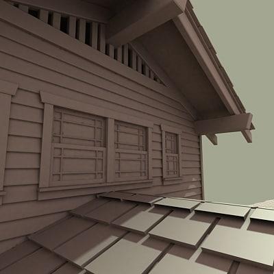 1915 home bungalow 3d model