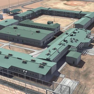 architecture building prison 3d model