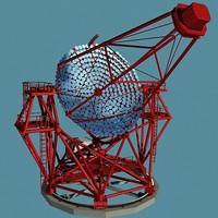 satellite telescope 3d model