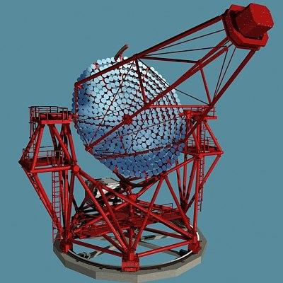 satellite telescope 3d model