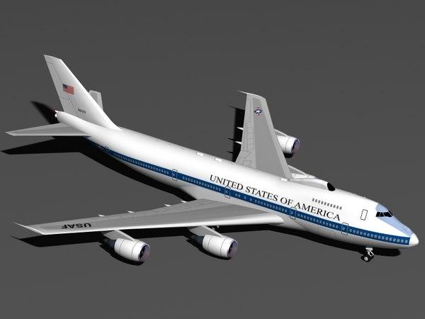 b 747-200 e-4b dxf