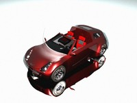 car redone smart coupe 3d model