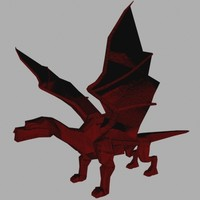 dragon wings 3d model