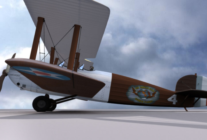 mcdonnell douglas world cruiser 3d model