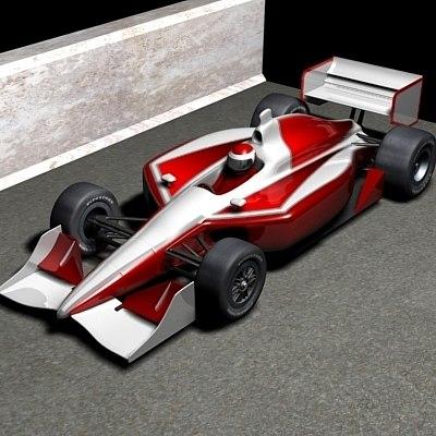 race car 3d max