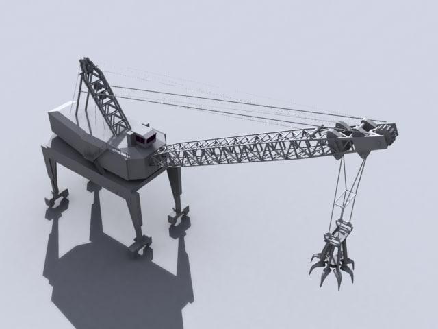 3ds max claw crane