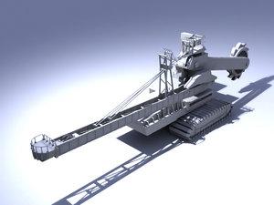 3d model giant excavator