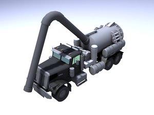 sewer vacuum truck pump 3d model