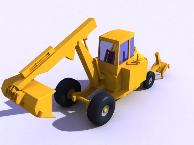 spider walking excavator 3d model