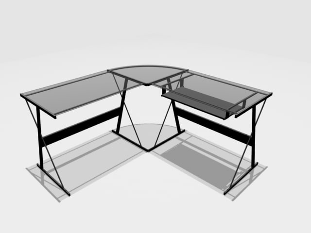 3d desk office