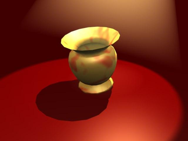 3d ancient pot model