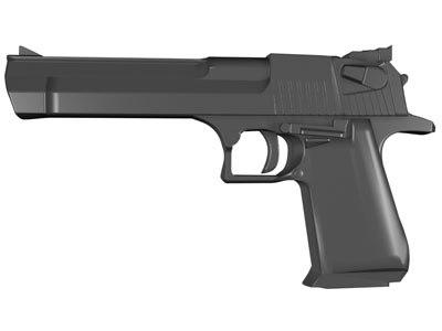 3dsmax desert eagle handgun