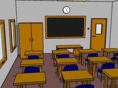 3ds max cel shaded classroom