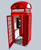 classic english phone booth 3d model