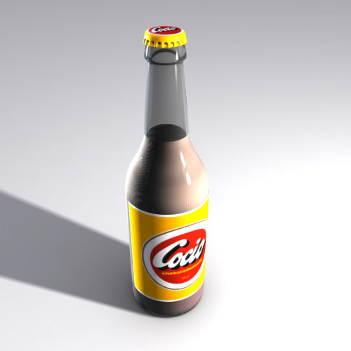 chocolate soft drink glass bottle 3d max