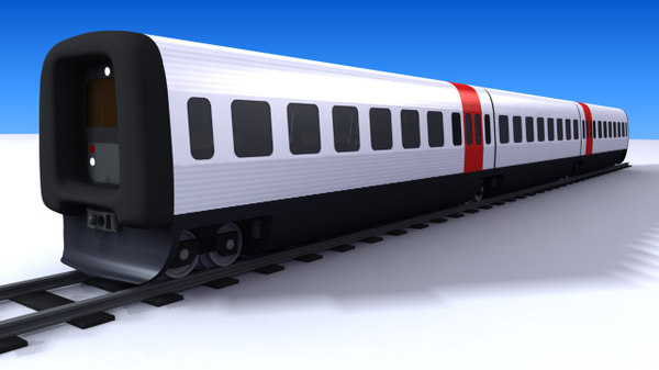 ic3 passenger train dsb 3d model