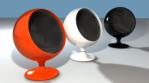 ball chairs 3d max
