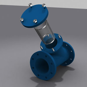 3d valve strainers modeled