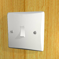 3d light switch model
