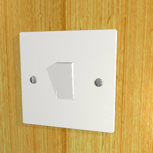 3d electric light switch model
