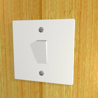 3d single light switch