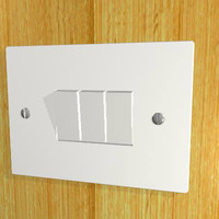 3d model triple light switch