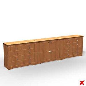 3d sideboard furniture model