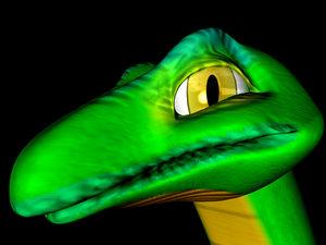 humphrey snake 3d model