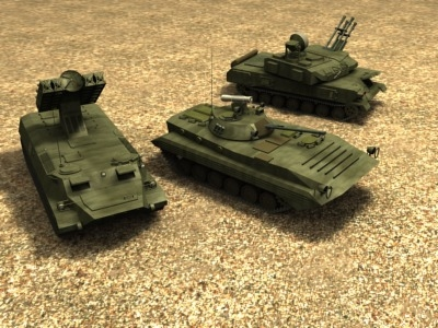 russian army vehicles 3d model