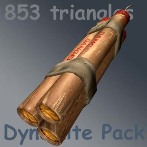 3ds max dynamite weapon