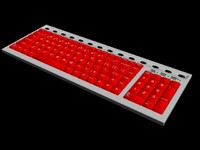 Fire Red Keyboard