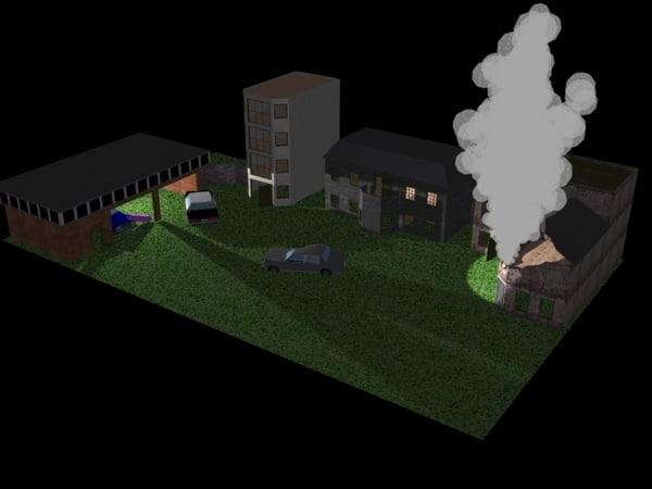 urban battlefields 3d model