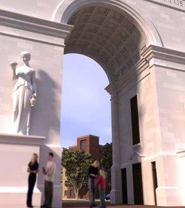 arch statue 3d model