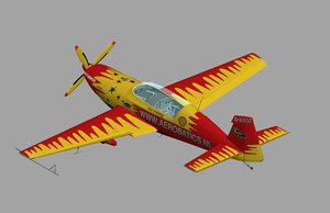 extra 300l plane 3d model