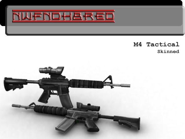 m4 assault 3d model