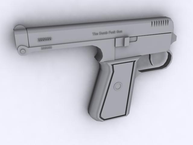gun dumb 3d model