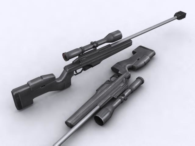 3d model sako sniper rifle