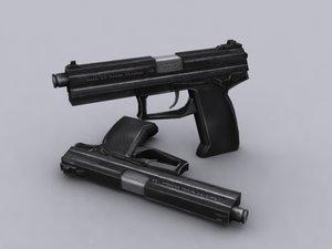 socom pistol 3d model